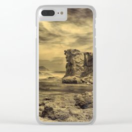 Volcanic Reef ..... Hand Painted Photograph Clear iPhone Case