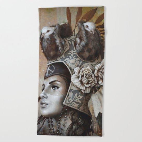 Guerrière pacifique Beach Towel
