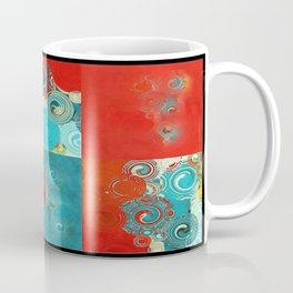 Swirly Red and Turquoise Mosaic Coffee Mug