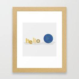 Hello World Framed Art Print
