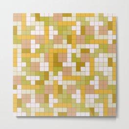 Tetris Camouflage Desert Metal Print