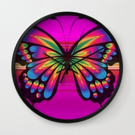 Vibrant, Decorative Butterfly Wall Clock