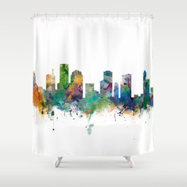 Houston Skyline Shower Curtain