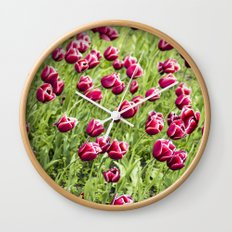 Tulips will remember  Wall Clock