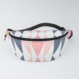 Triangle Pattern in Blush and Slate Fanny Pack