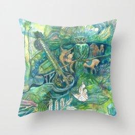 Emerald Wisdom Throw Pillow