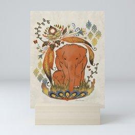 Elephants Sanctuary Mini Art Print