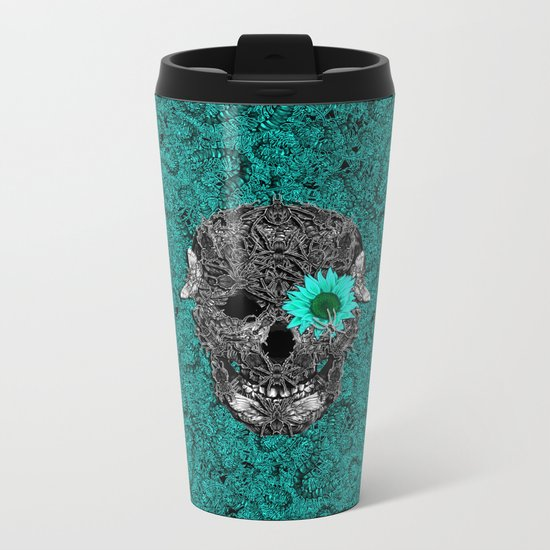 Insect Skull Metal Travel Mug