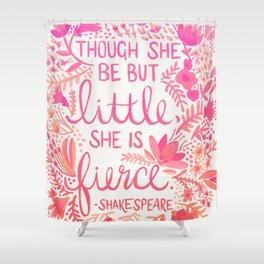 Little & Fierce – Pink Ombré Shower Curtain