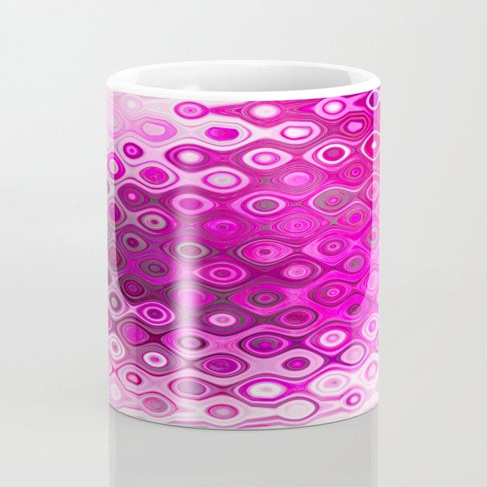Wobbly Dots in shocking pink Coffee Mug