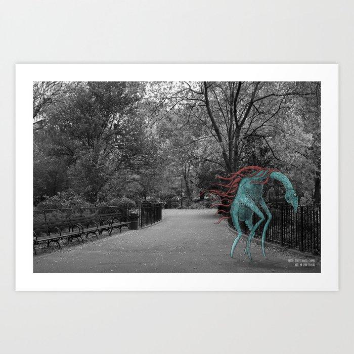 Unseen Monsters of New York - Zaftig Fernticle Art Print