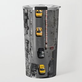 Yellow Cab from Above - Original #society6 exclusive Travel Mug