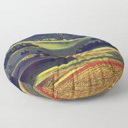 landscape painting Floor Pillow