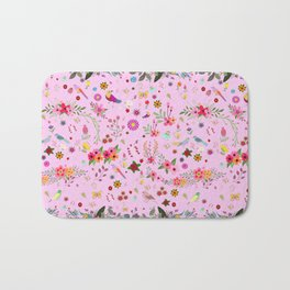 Say I love you with flowers Bath Mat