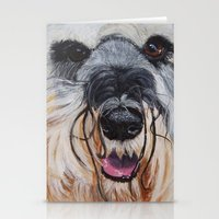 schnauzer Stationery Cards featuring Schnauzer by Doggyshop