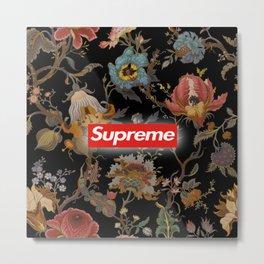 Floral black supreme Metal Print