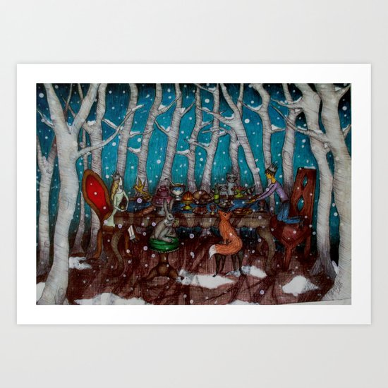 The Winter Feast Art Print