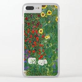 Gustav Klimt - Farm Garden With Flowers Clear iPhone Case