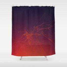 Sunset gradient connection Shower Curtain