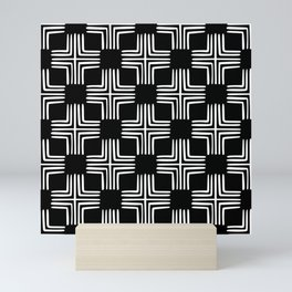 Black And White Scandinavian Print Pattern Minimalist Decor Mini Art Print