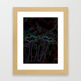 Neon Abstract Bougainvillea Framed Art Print