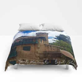 Mount Monserrate at Christmastime Maybe, Bogota, Colombia Comforters