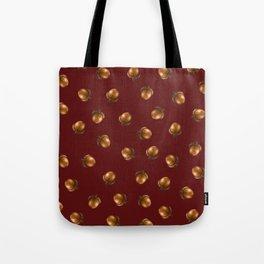 Acorn Pattern-Maroon Tote Bag