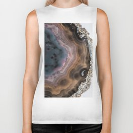 Multi-colored Agate slice Biker Tank