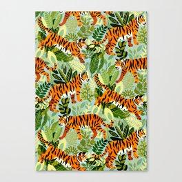 Bright Bengal Tiger Jungle Canvas Print