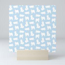 Samoyeds Print Mini Art Print