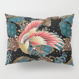 cranes and waves Pillow Sham