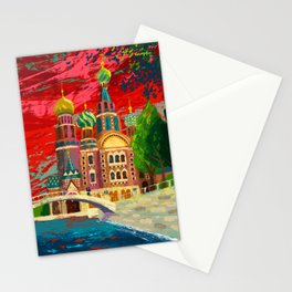 Church St. Petersburg Russia Stationery Cards