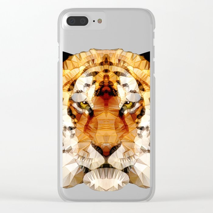 abstract tiger Clear iPhone Case