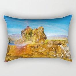 Fly Geyser Watercolor Rectangular Pillow