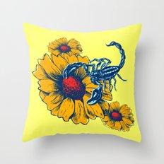 Scorpion Flowers Throw Pillow