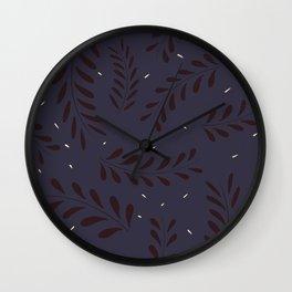 Leavy Pattern Wall Clock