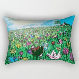 Rolling in Tulips Rectangular Pillow