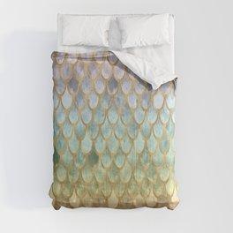 Rainbow Marble Mermaid Scales Comforters