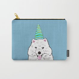 Samoyed with Party Hat Carry-All Pouch