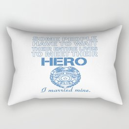 Police Officer's Wife Rectangular Pillow