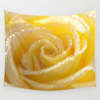 romance Wall Tapestries featuring Yellow Romance by UtArt