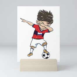 Dabbing Soccer Player Funny Russia Fan graphic boy Mini Art Print