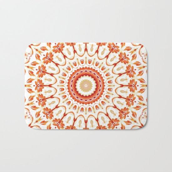 Floral Sun Mandala Bath Mat