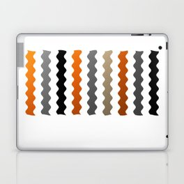 Vertical Waves - Metallic Gold, Silver and Black Vertical Wavy Stripes Laptop & iPad Skin