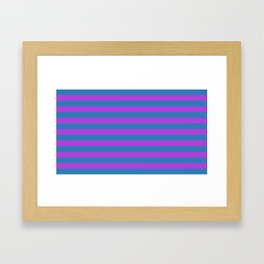 Blue and Purple Stripes Framed Art Print