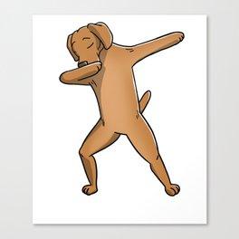Funny Dabbing Vizsla Dog Dab Dance Canvas Print