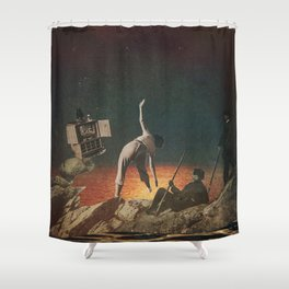 Galactic Exercise Shower Curtain