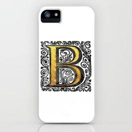 Beautiful Monogram Letter 'B' Vintage Style iPhone Case