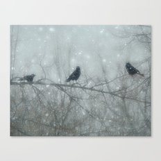 Wintry Crows Canvas Print