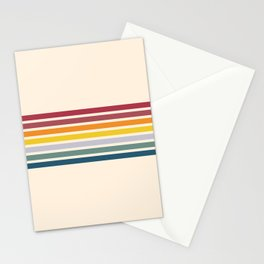 Enera - Classic 70s Vintage Style Retro Stripes Stationery Cards
